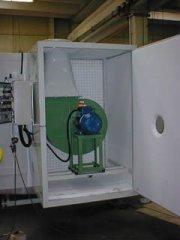 Cabina per applicazione Silicato di Sodio su Scaldabagni