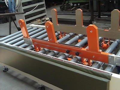 Modulo motorizzato a rulli premontaggio armadi Frigoriferi.